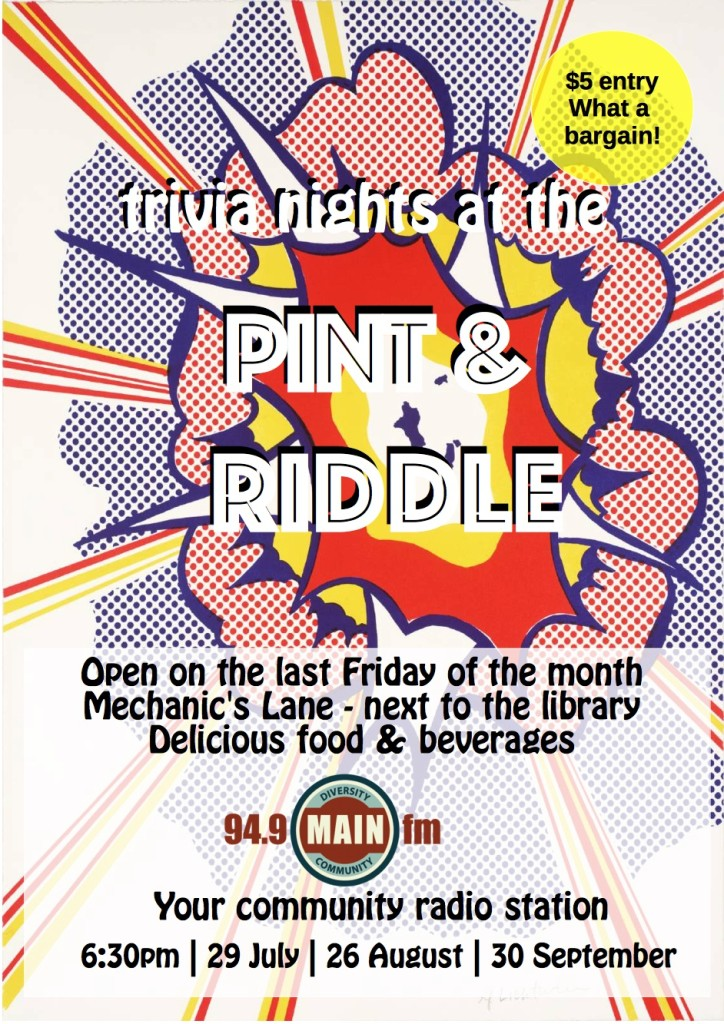 Pint&Riddle poster